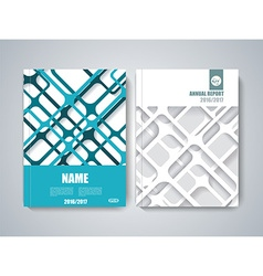 Brochure title sheet polygonal stripe construction vector