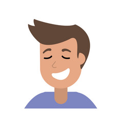 Cartoon man smiling image vector