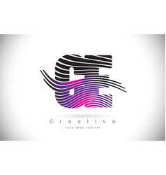Ce c e zebra texture letter logo design with vector