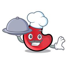 Chef with food candy moon mascot cartoon vector