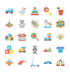 children and kids icons vector image