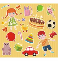 Children design elements set vector