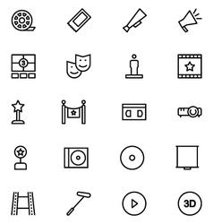 Cinema Line Icons 7 vector image