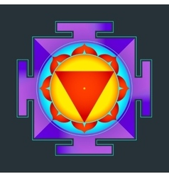 Colored tara yantra vector