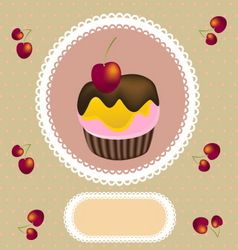cup cake invitation vector image