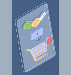 customer journey credit card money shopping vector image