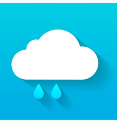Day cloud and rain drops isolated on blue vector image