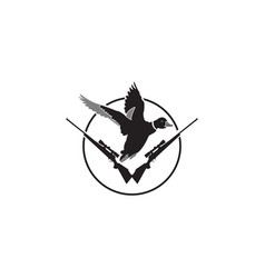 duck hunt shooting club logo patches vector image