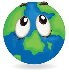 earth globe face vector image