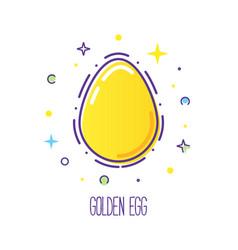 Easter line logo vector