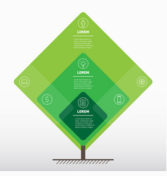 eco poster with icons go green concept organic vector image