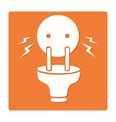 Electric plug symbol vector