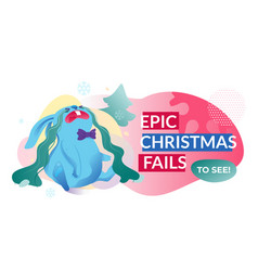 epic christmas fails banner vector image