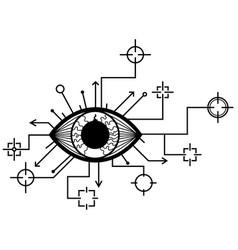 eye targets design vector image