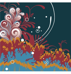 Fantasy floral background vector