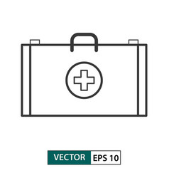 first aid icon outline style eps 10 vector image