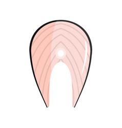 fish steak icon flat style vector image