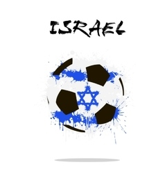 Flag of Israel as an abstract soccer ball vector