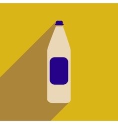 Flat web icon with long shadow bottle of water vector
