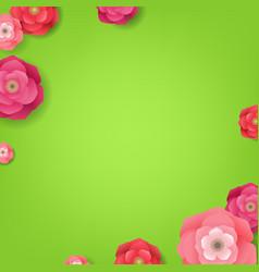 flower green card vector image