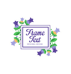 frame text original design elegant floral badge vector image