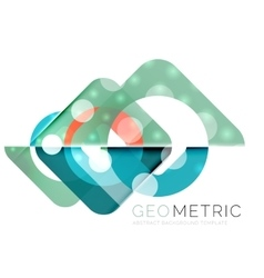 Geometrical minimal abstract background with light vector image