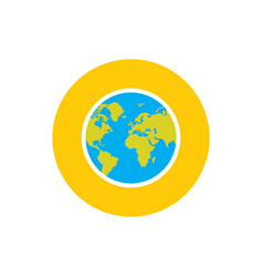 globe earth planet - concept icon in flat graphic vector image
