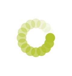 green loading circle icon buffer loader or vector image