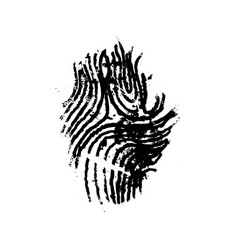 Grunge imprint human finger simple black icon vector