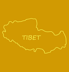 Highly detailed country map tibet vector