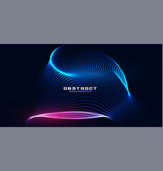 Holographic particles mesh technology background vector
