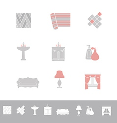 Home related icon set vector image