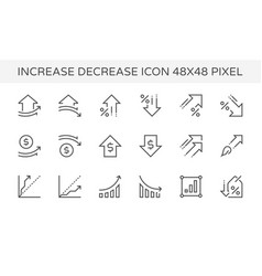 increase decrease icon vector image