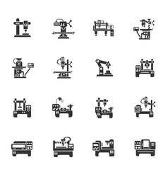 Industrial equipment icon set vector
