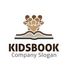 Kids Book Design vector image