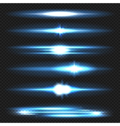 Lens flare set vector