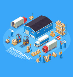 Logistics and warehouse concept vector