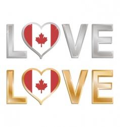 Love canada vector
