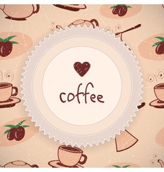 Love Coffee Background vector image