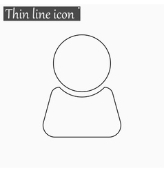 Man icon Style thin line vector image
