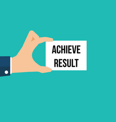 man showing paper achieve result text vector image