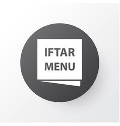 Menu icon symbol premium quality isolated iftar vector