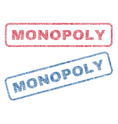 Monopoly textile stamps vector