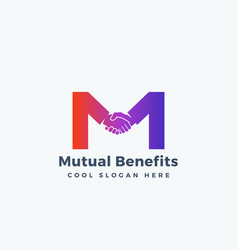 mutual benefit abstract sign symbol vector image