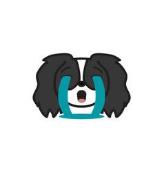 pekingese emoji sob multicolored icon signs and vector image