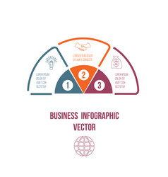 pie chart infographic colourful lines with text vector image