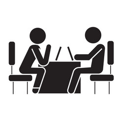 psychologist and patient black concept icon vector image