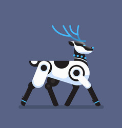 robot reindeer artificial intelligence concept vector image