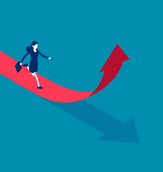 running up arrow direction business growth vector image