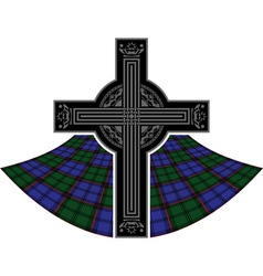 Scottish celtic cross vector